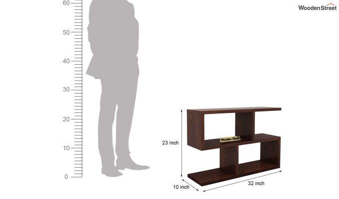Harmond Display Unit (Walnut Finish)-7