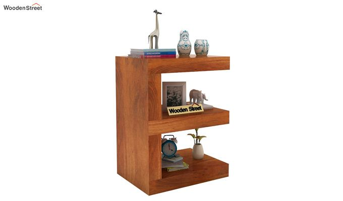 Nara Display Cabinet (Honey Finish)-1