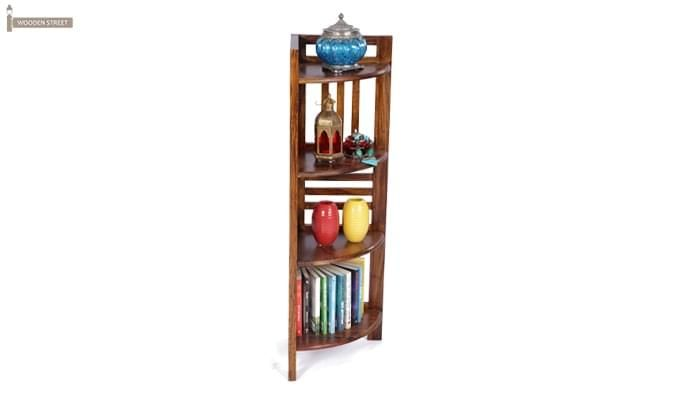Roska Store Display Cabinet (Walnut Finish)-2