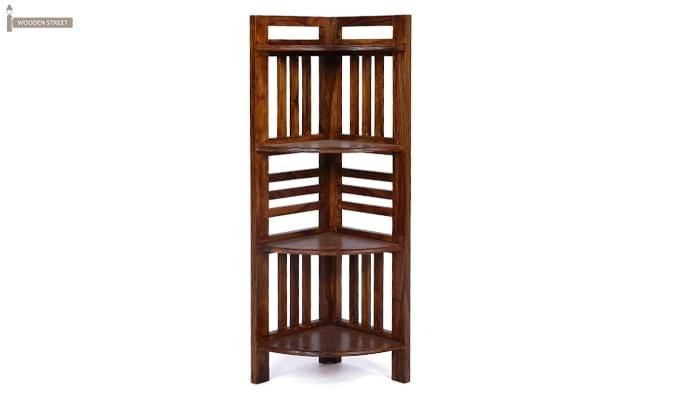 Roska Store Display Cabinet (Walnut Finish)-8