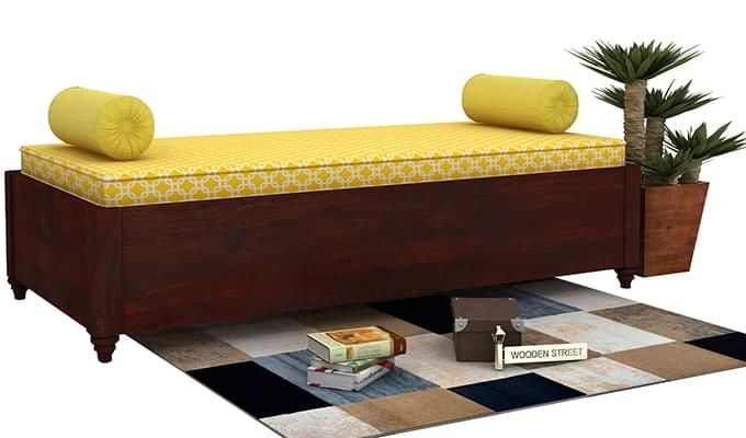 Adriana Storage Divan (Mahogany Finish)-1