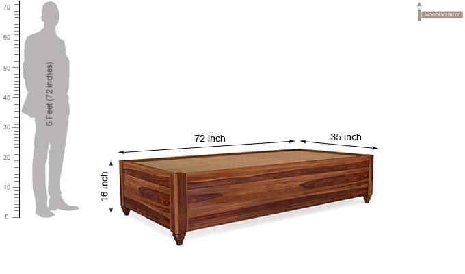 Adriana Storage Divan (Teak Finish)-5