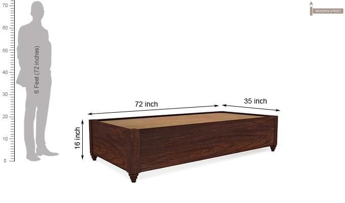 Adriana Storage Divan (Walnut Finish)-5