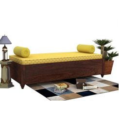 Adriana Storage Divan (Walnut Finish)