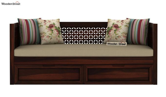 Angelica Divan With Storage (Walnut Finish)-3