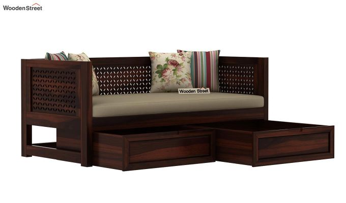 Angelica Divan With Storage (Walnut Finish)-4