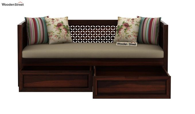 Angelica Divan With Storage (Walnut Finish)-5