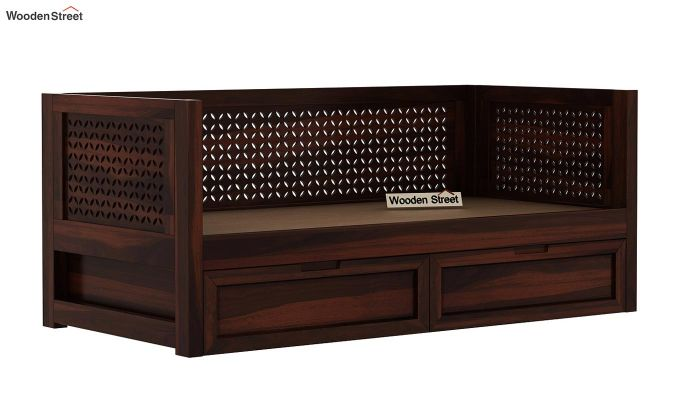 Angelica Divan With Storage (Walnut Finish)-6