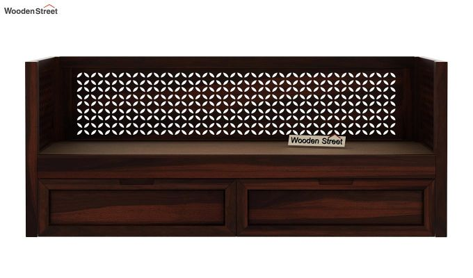Angelica Divan With Storage (Walnut Finish)-7