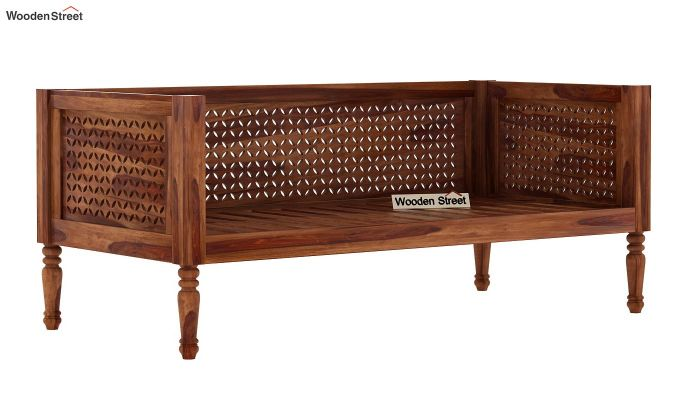 Angelica Divan (Teak Finish)-4