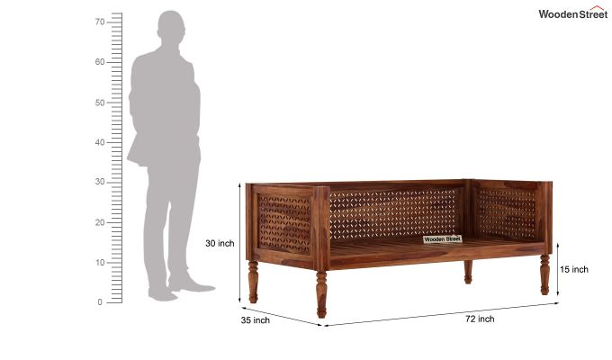 Angelica Divan (Teak Finish)-6