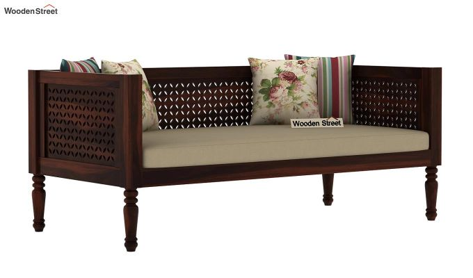 Angelica Divan (Walnut Finish)-2
