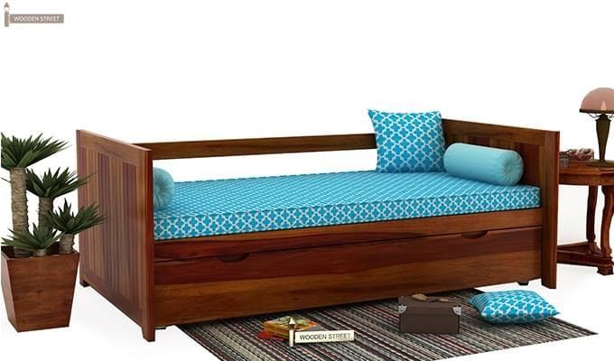 Baldina Trundle Bed (Honey Finish)-1