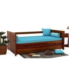 Baldina Trundle Bed (Honey Finish)