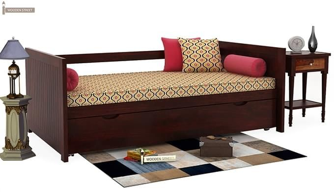 Baldina Trundle Bed (Mahogany Finish)-1