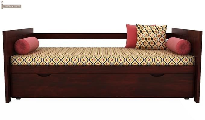 Baldina Trundle Bed (Mahogany Finish)-3