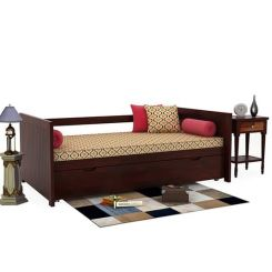 Baldina Trundle Bed (Mahogany Finish)