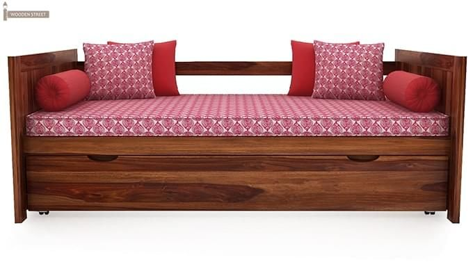 Baldina Trundle Bed (Teak Finish)-5