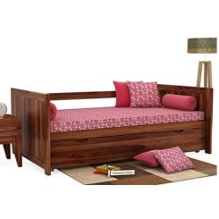 Baldina Trundle Bed (Teak Finish)