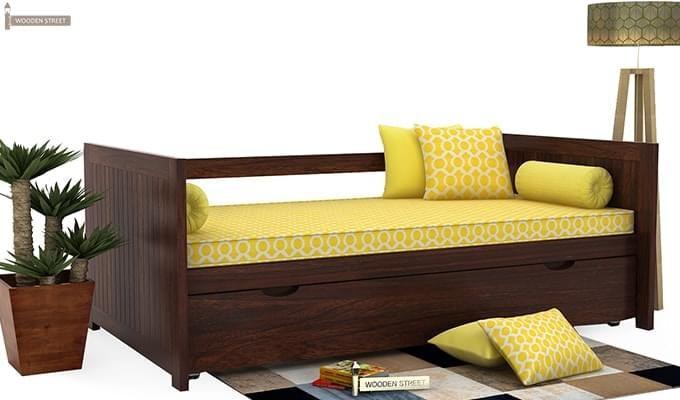 Baldina Trundle Bed (Walnut Finish)-1
