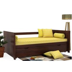 Baldina Trundle Bed (Walnut Finish)