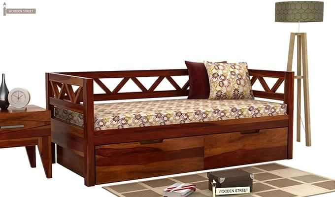 Buy Benicio Divan Honey Finish Online In India Wooden Street
