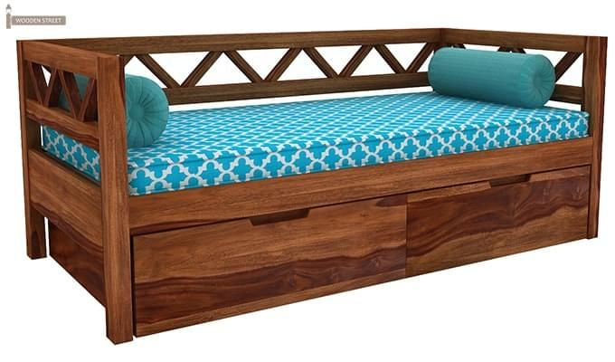 Benicio Divan (Teak Finish)-2