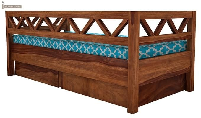 Benicio Divan (Teak Finish)-4