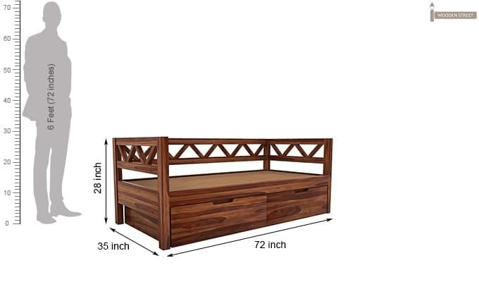 Benicio Divan (Teak Finish)-6