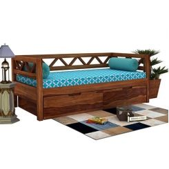 Benicio Divan (Teak Finish)
