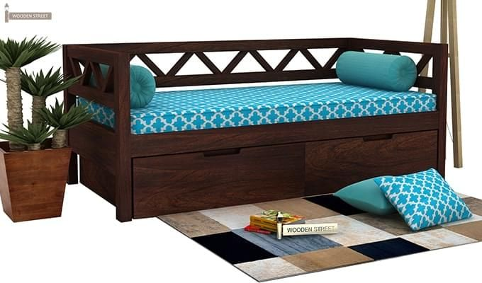 Benicio Divan (Walnut Finish)-1
