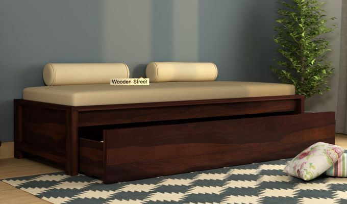 Cadoc Divan (Walnut Finish)-2