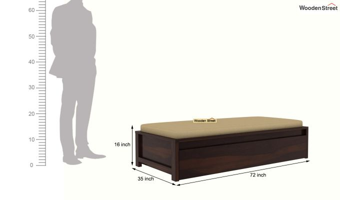 Cadoc Divan (Walnut Finish)-7