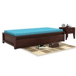 Cadoc Divan (Walnut Finish)