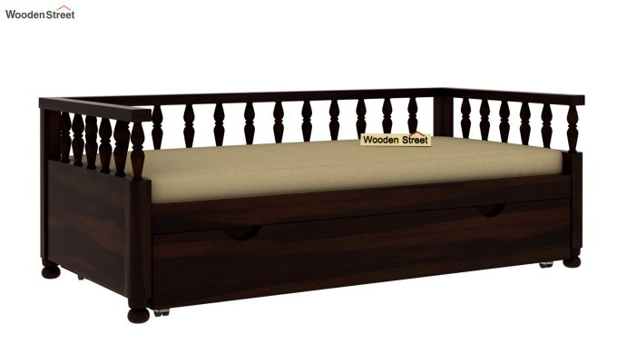 Dicaprio Divan (Walnut Finish)-2