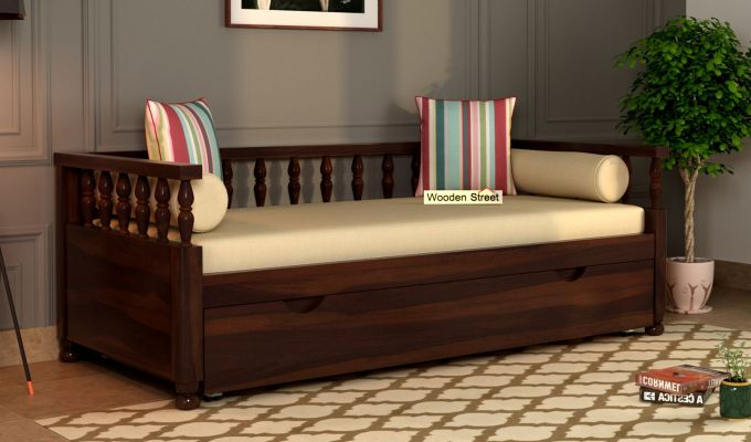 Dicaprio Divan (Walnut Finish)-1