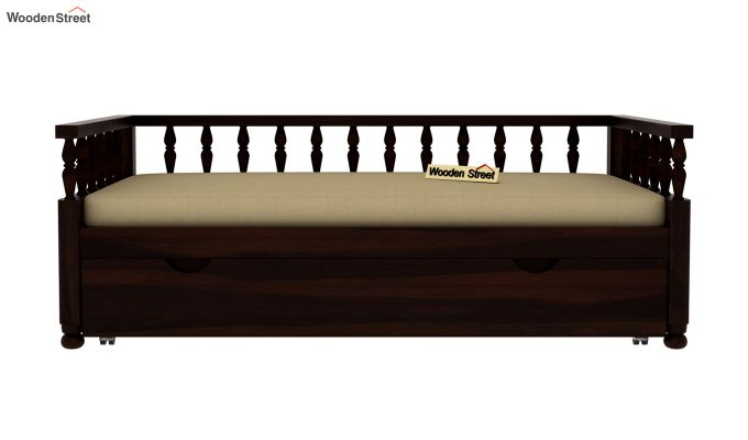 Dicaprio Divan (Walnut Finish)-3