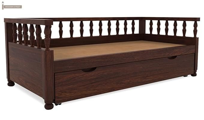 Dicaprio Divan (Walnut Finish)-5