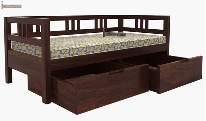 Buy Hudson Divan Walnut Finish Online In India Wooden Street