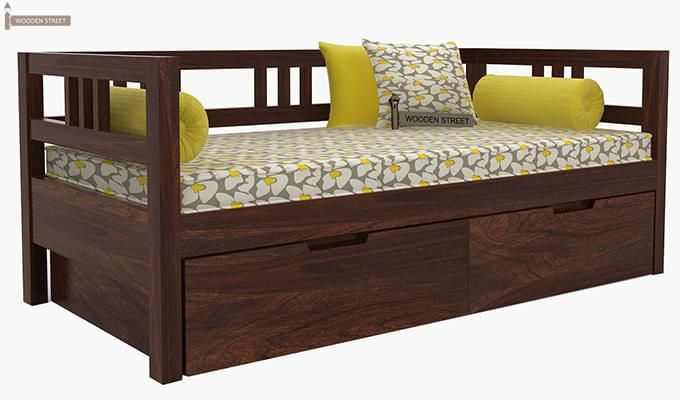 Hudson Divan (Walnut Finish)-3