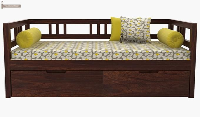 Hudson Divan (Walnut Finish)-4