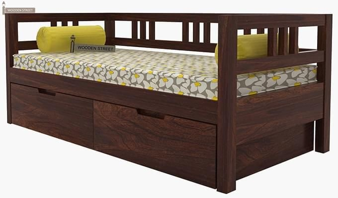 Hudson Divan (Walnut Finish)-6