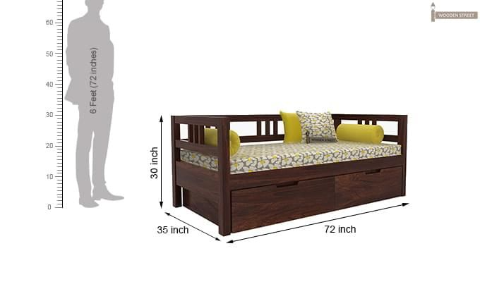 Hudson Divan (Walnut Finish)-7
