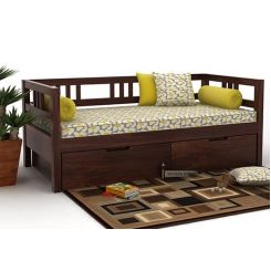 Hudson Divan (Walnut Finish)