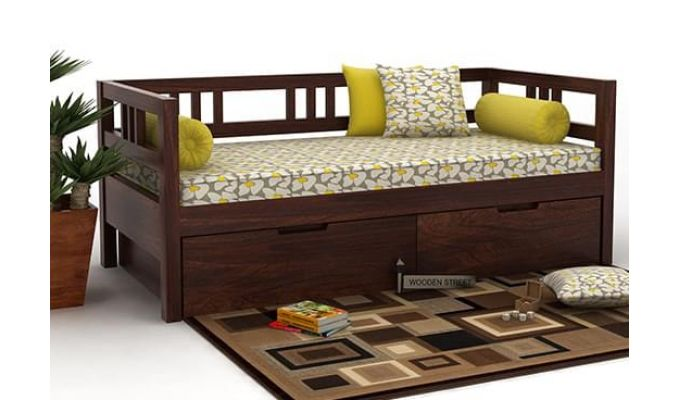 Hudson Divan (Walnut Finish)-1