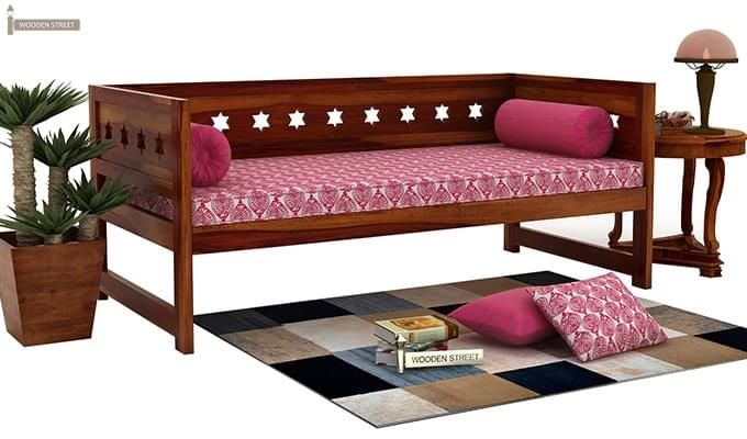 Swayze Divan Without Storage (Honey Finish)-1