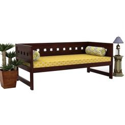 Swayze Divan Without Storage (Mahogany Finish)