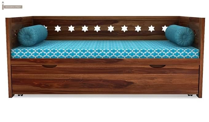 Swayze Divan With Storage (Teak Finish)-3