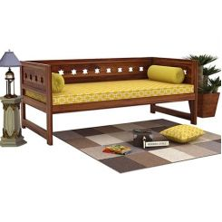 Swayze Divan Without Storage (Teak Finish)