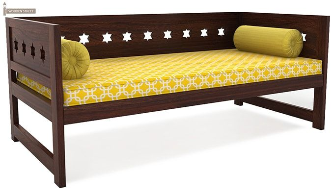 Swayze Divan Without Storage (Walnut Finish)-2
